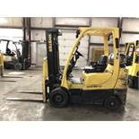 2013 HYSTER 6,000-LB. CAPACITY FORKLIFT, MODEL: S60FT, S/N: F187V23114L, LPG, LEVER SHIFT, 4,601 HRS