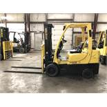 2011 HYSTER 6,000-LB. CAPACITY FORKLIFT, MODEL: S60FT, S/N: F187V17767J, LPG, LEVER SHIFT