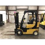 2014 YALE 5,000-LB. CAPACITY FORKLIFT, MODEL: GLC050VX, LPG, LEVER SHIFT, 7,114 HRS