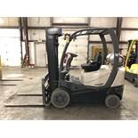 2016 CROWN 5,000-LB. CAPACITY FORKLIFT, MODEL: C-5, LPG, LEVER SHIFT TRANSMISSION, 748 ACTUAL HOURS