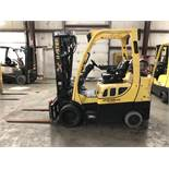 2014 HYSTER 6,000-LB. CAPACITY FORKLIFT, MODEL: S60FT, LPG, 4-STAGE MAST, 240'` LIFT, SIDESHIFT