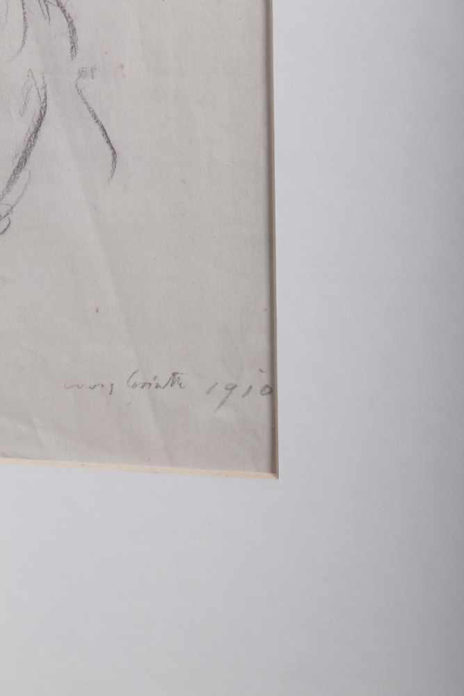 Louis Corinth 1858-1925, Zeichnung eines Damenportraits, Kreide auf Papier, signiert unten rechts, - Bild 2 aus 2