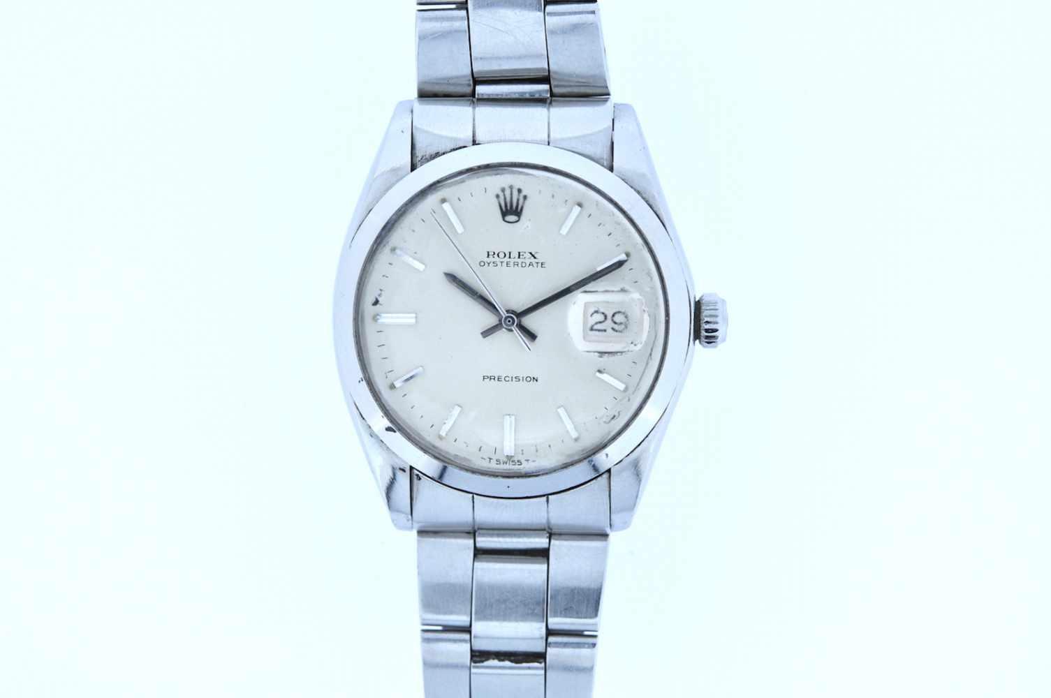 Rolex Rolex Date Precision, Ref.6694, Stahl/Stahl, Oysterband, Handaufzug, Plexiglas, Glas stark