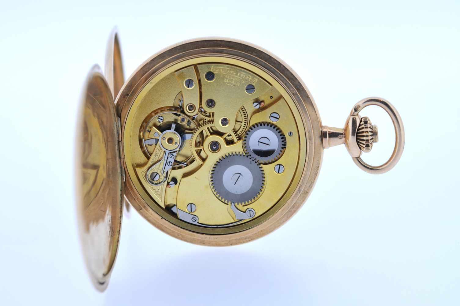 Goldene Herrentaschenuhr Goldene Herrentaschenuhr mit Springdeckel und kleiner Sekunde, Audemars - Bild 2 aus 4