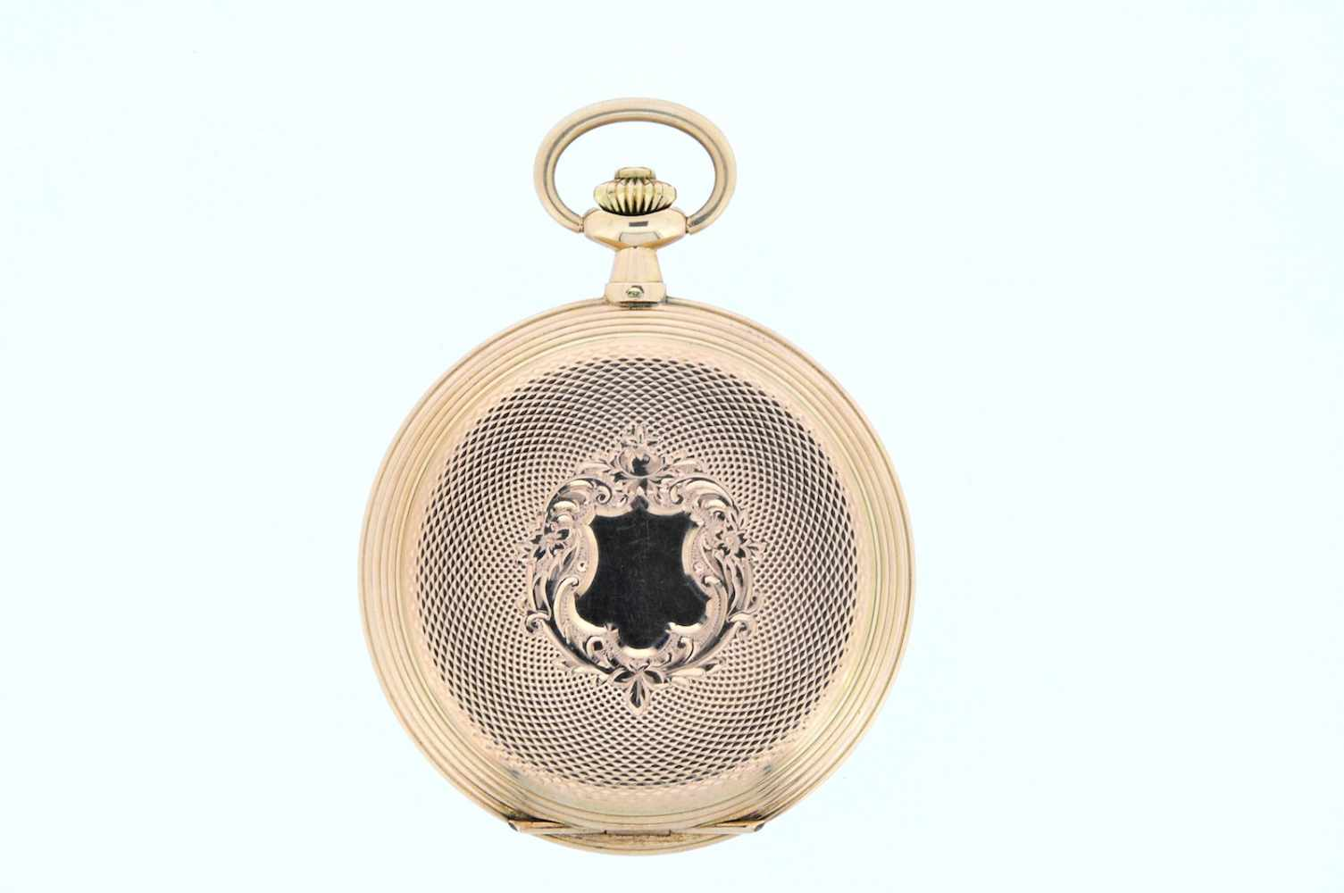Goldene Herrentaschenuhr Goldene Herrentaschenuhr mit kleiner Sekunde, Elegancia, Breguetspirale, - Bild 2 aus 4