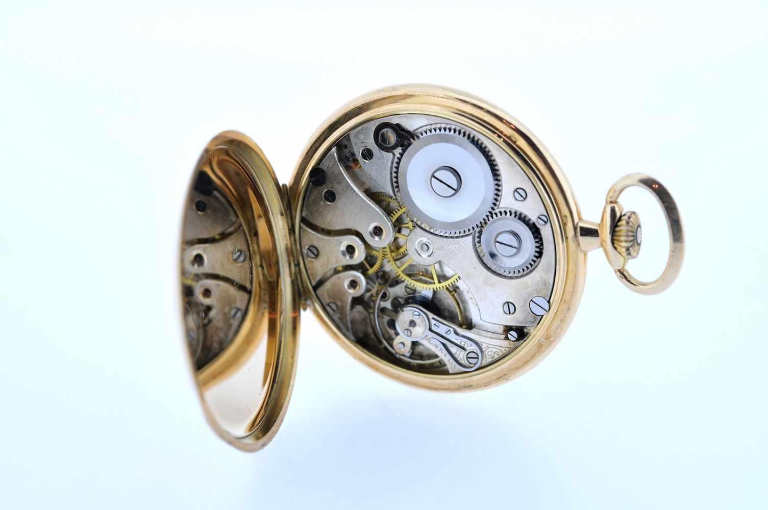 Goldene Frackuhr Goldene Frackuhr mit kleiner Sekunde, Chronometer, Corgemont Watch, Breguetspirale, - Bild 2 aus 2