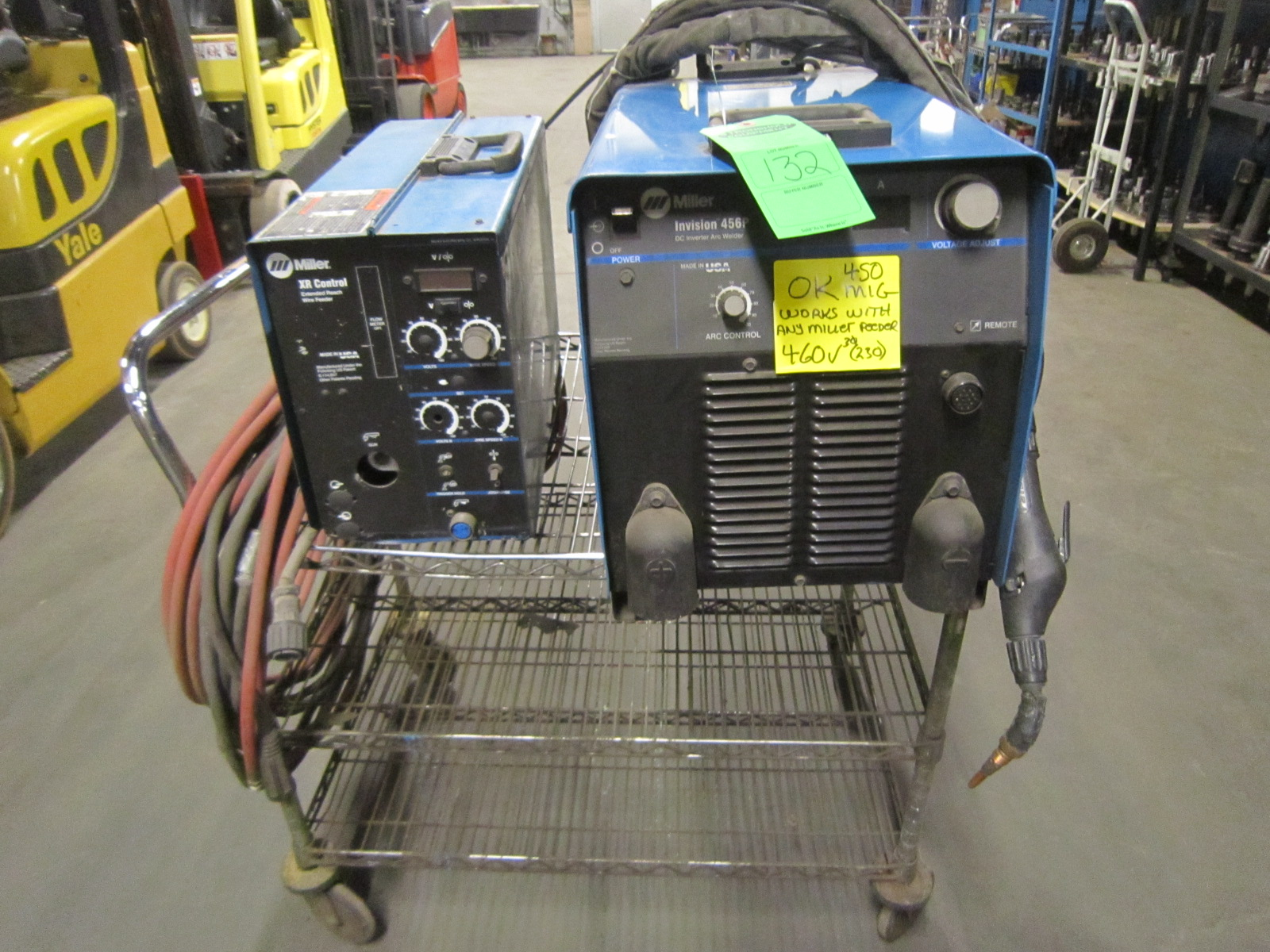 Miller Invision 456P Mig Welder with XR control push/pull wire ...