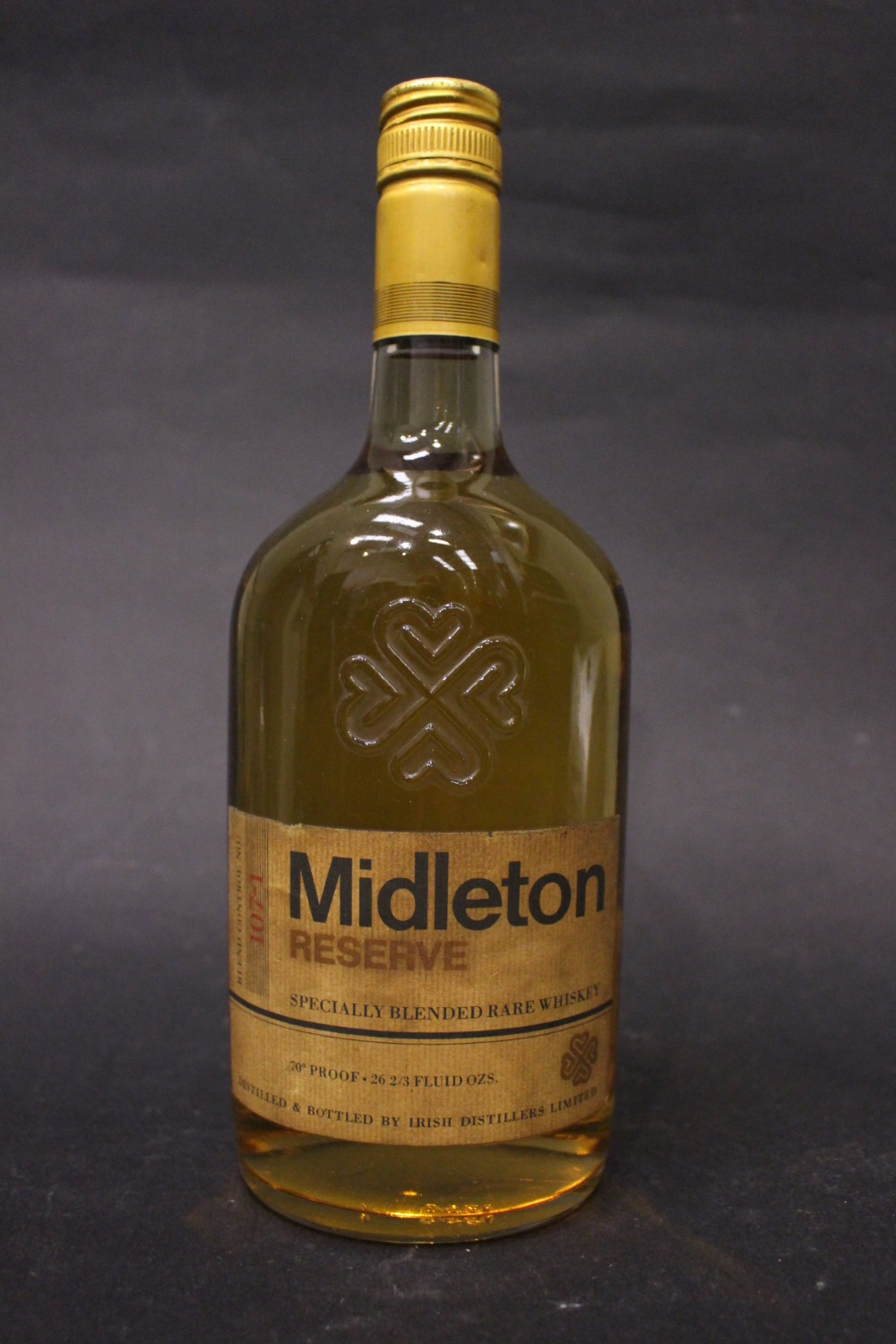 Lot 57 - A BOTTLE OF 'MIDLETON RESERVE', blend control no. 107-1,, specially blended rare Irish whiskey,