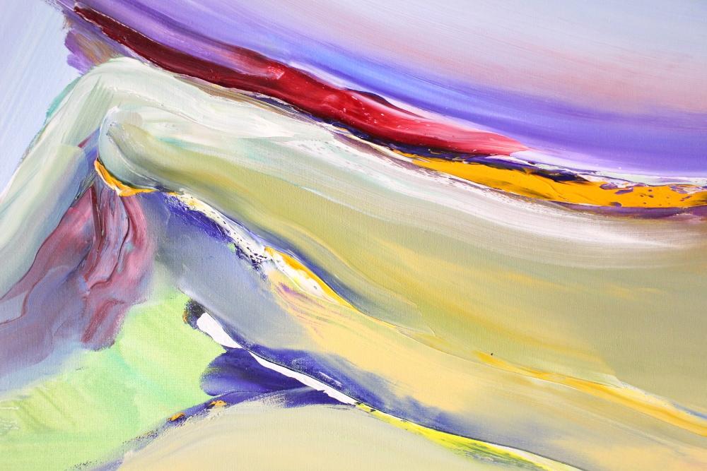 "Lot 43 - MAJELLA O'NEILL COLLINS, IRISH (b. 1964), ""FLYING OVER SHERKIN ISLAND, I"", oil on canvas"
