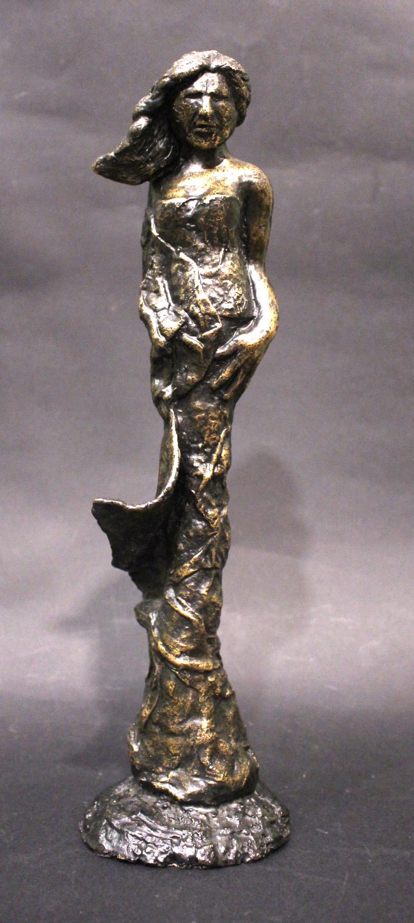 "Lot 59 - ALISON DUCKER, (Irish b.1963) ""CONTEMPLATION"", bronze sculpture, signed, 13.5"" high approx (Unique)"