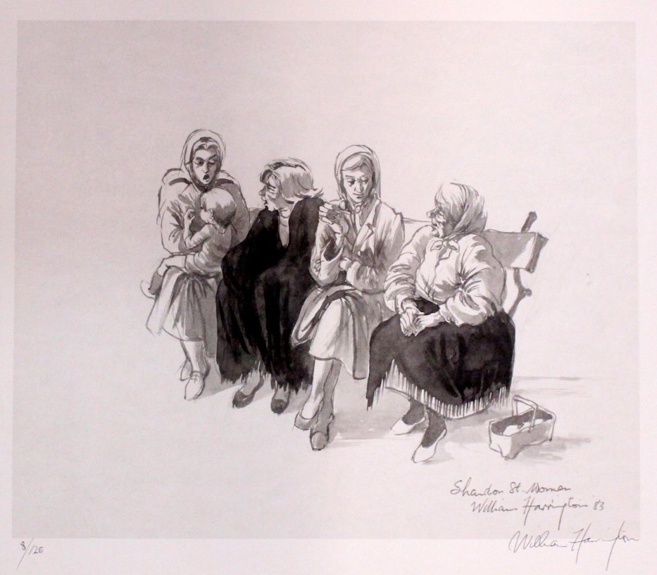"Lot 50 - WILLIAM HARRINGTON, ""SHANDON ST. WOMAN"", signed limited edition print, signed lower right,"