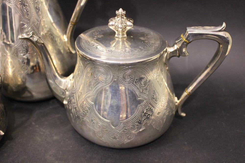 Lot 20 - A VERY FINE LATE 19TH CENTURY SILVER TEA/COFFEE SET