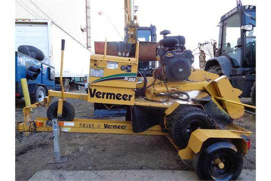 Make Vermeer Model SC252 Year 2013 Hours 771 SN