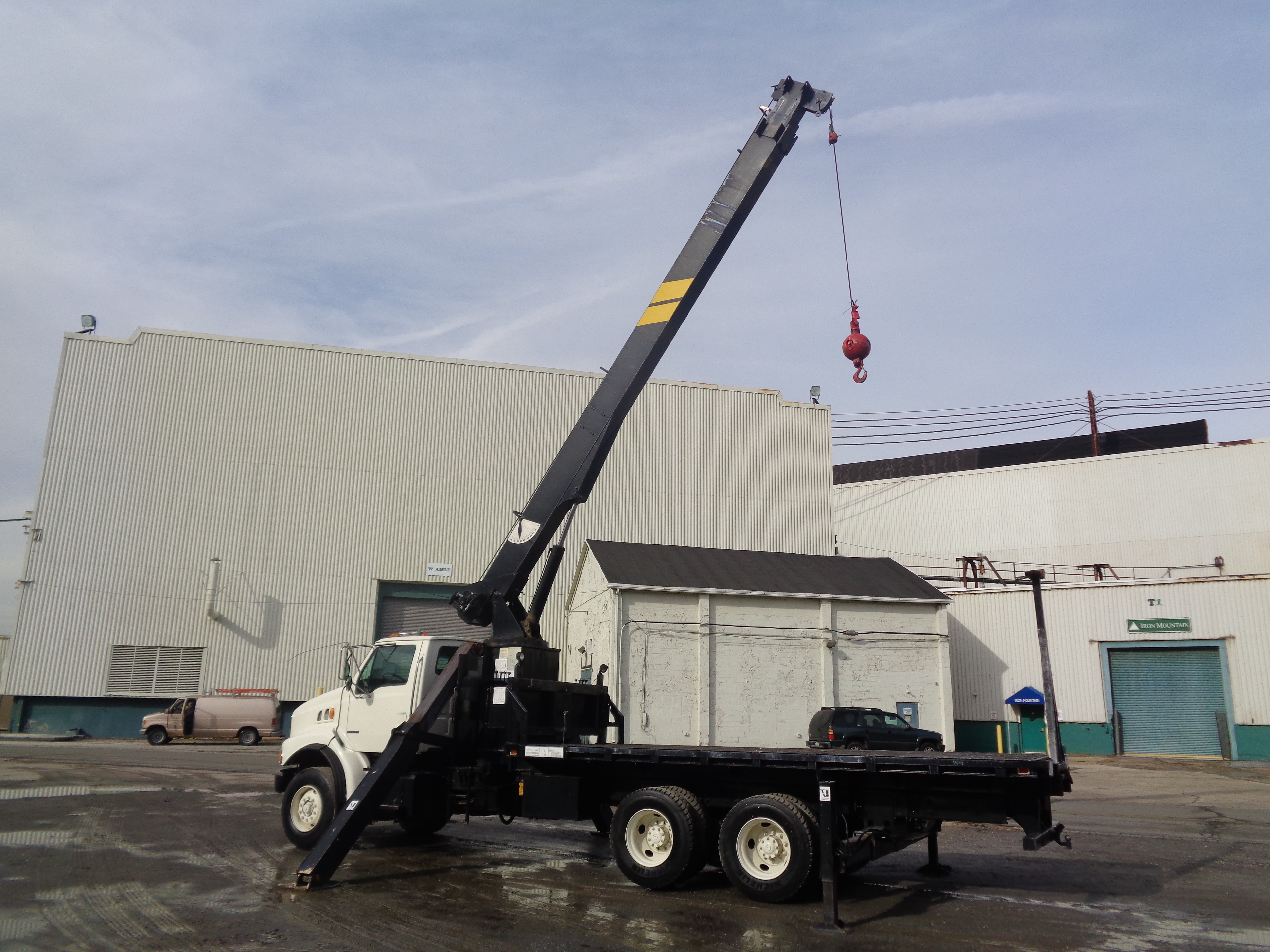 Lot 36 - Sterling Boom Truck Crane 16 Ton Capacity - 68ft Height
