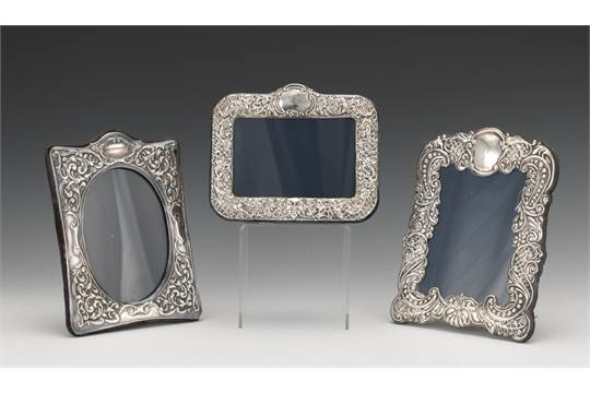 Rbb London English Sterling Silver Picture Frames Set Of Three