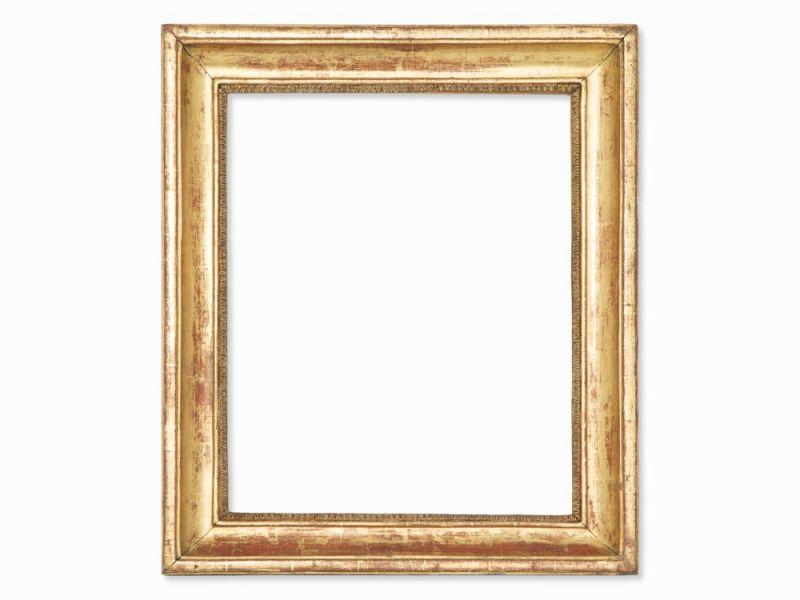 Klassizismus Gold-Rahmen mit Kymation, Italien, Anfang 19. Jh. Holz ...