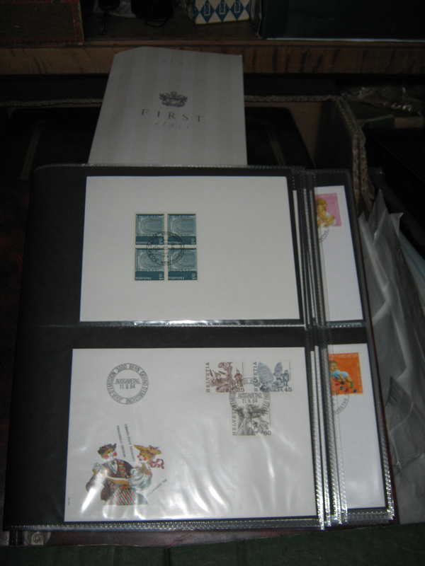 Lot 7 - Another lot of stamps and First Day covers, including 2 folders of Channel Islands, stamps and
