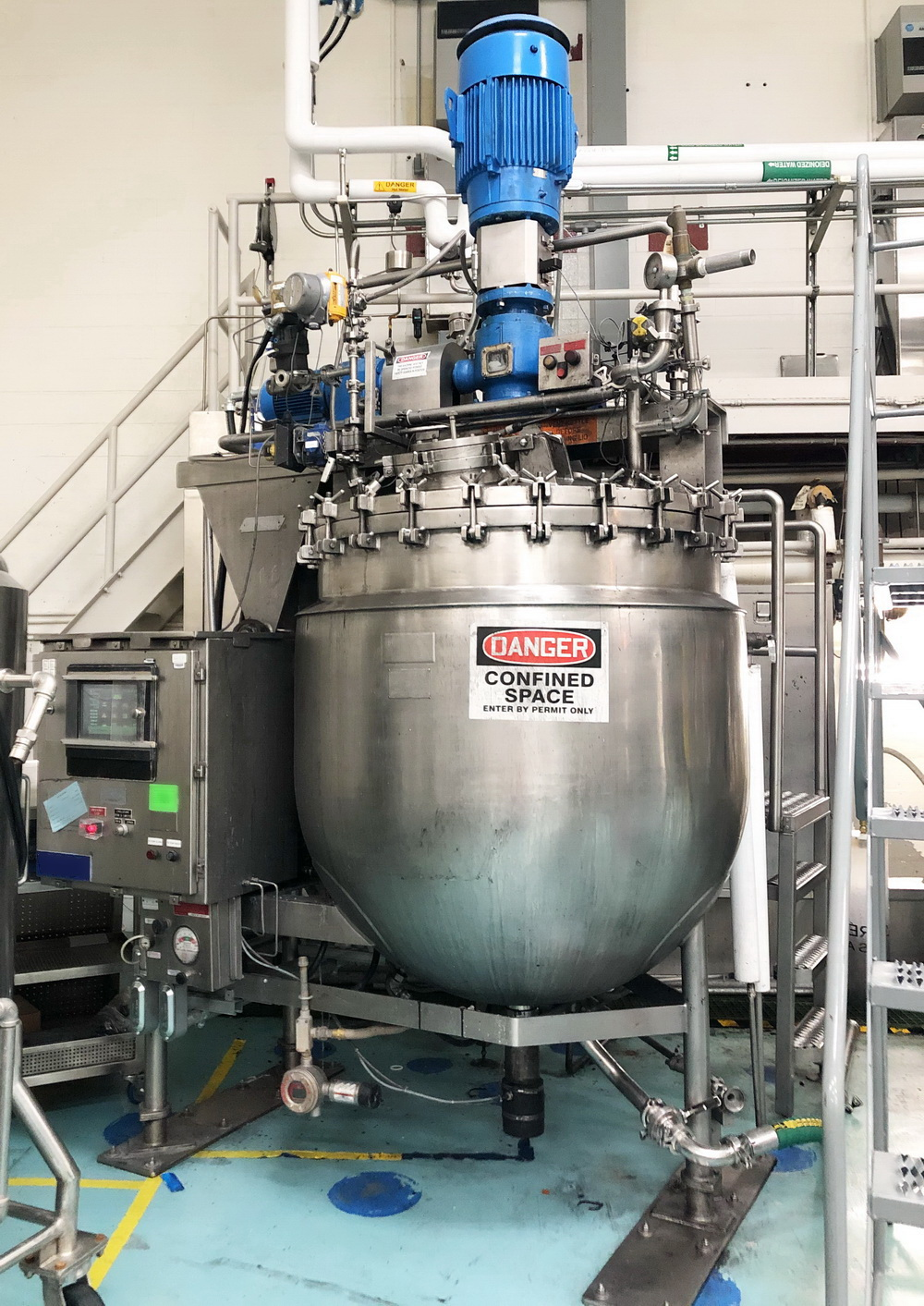 """Greerco/Gifford Wood 1,000 Liter (250 gal) 316 SS Jacketed Triple Motion """"Agi-Mix"""" Kettle/Reactor"""