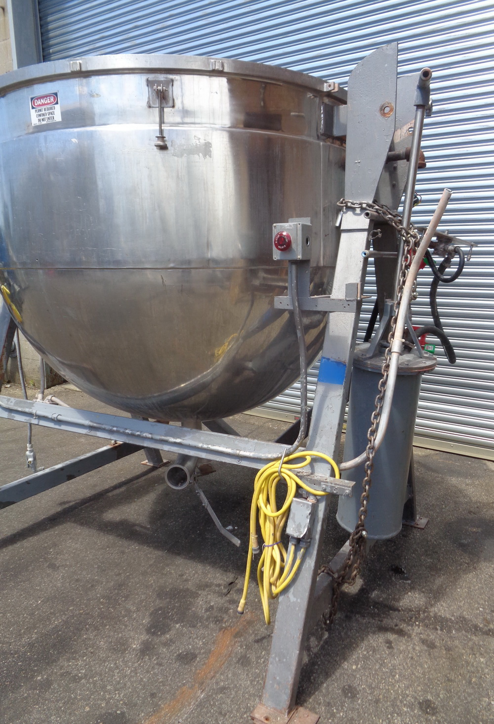 Lee 500 gallon Stainless Steel Double Motion Scraper Jacketed Kettle, Model 500DV9MT - Image 3 of 14