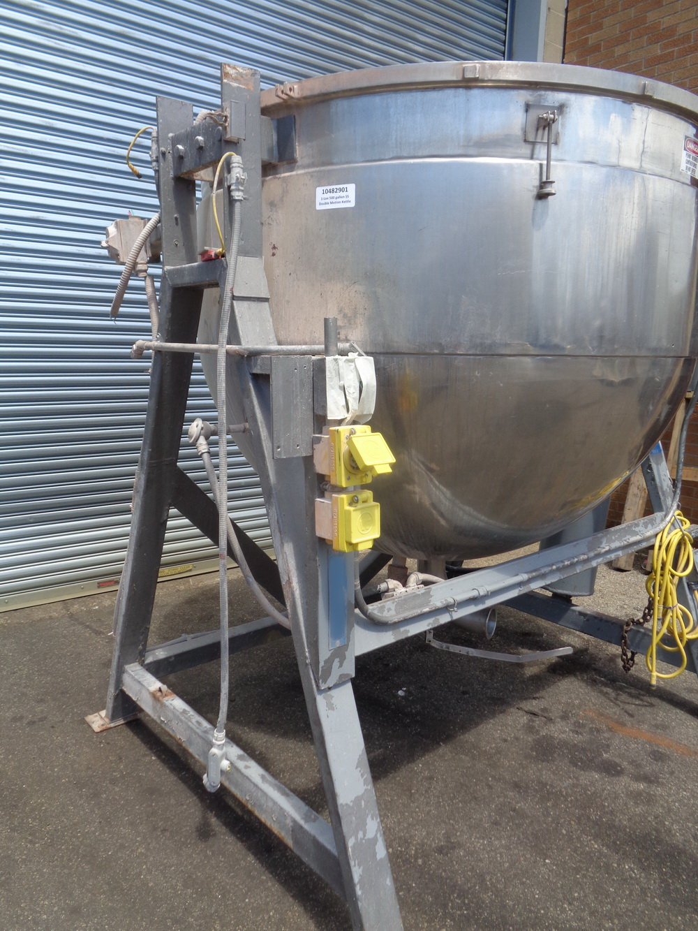 Lee 500 gallon Stainless Steel Double Motion Scraper Jacketed Kettle, Model 500DV9MT - Image 4 of 14