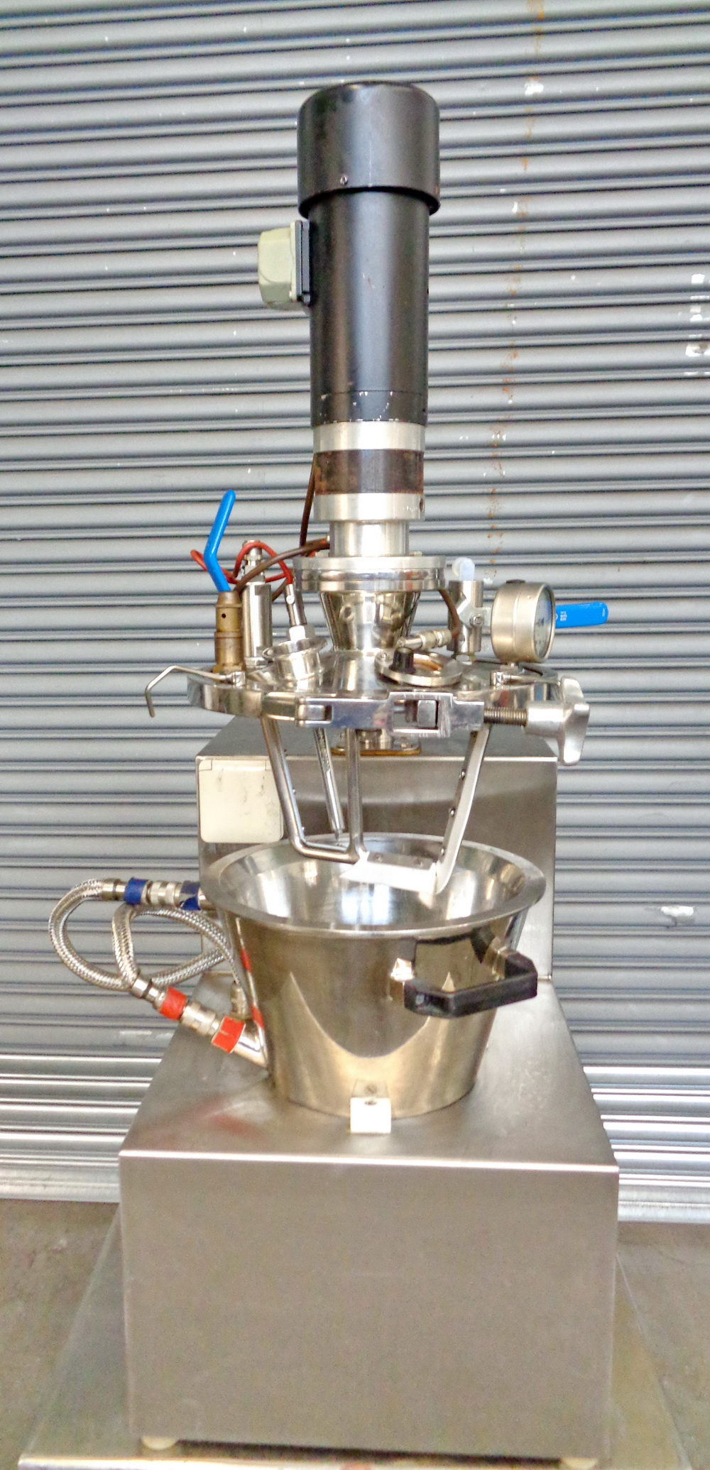 Haagen Rinau (Ekato) 1 gallon SS Vacuum/Jacketed Lab Process Mixer, Model Unimix, S/N 866-3276 - Image 4 of 10