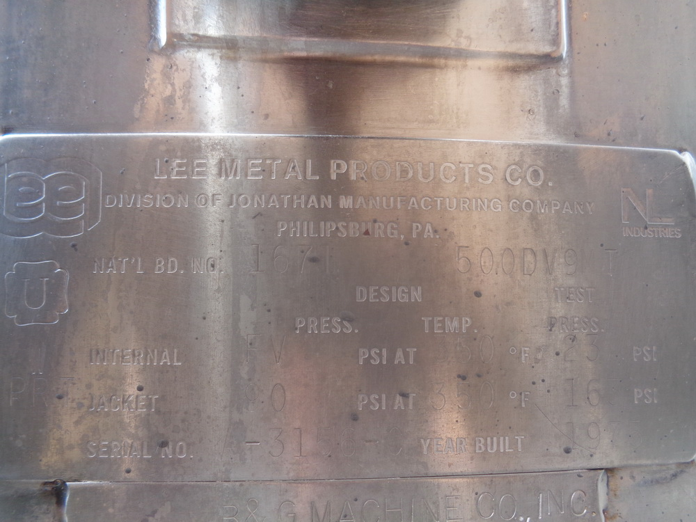 Lee 500 gallon Stainless Steel Double Motion Scraper Jacketed Kettle, Model 500DV9MT - Image 6 of 14