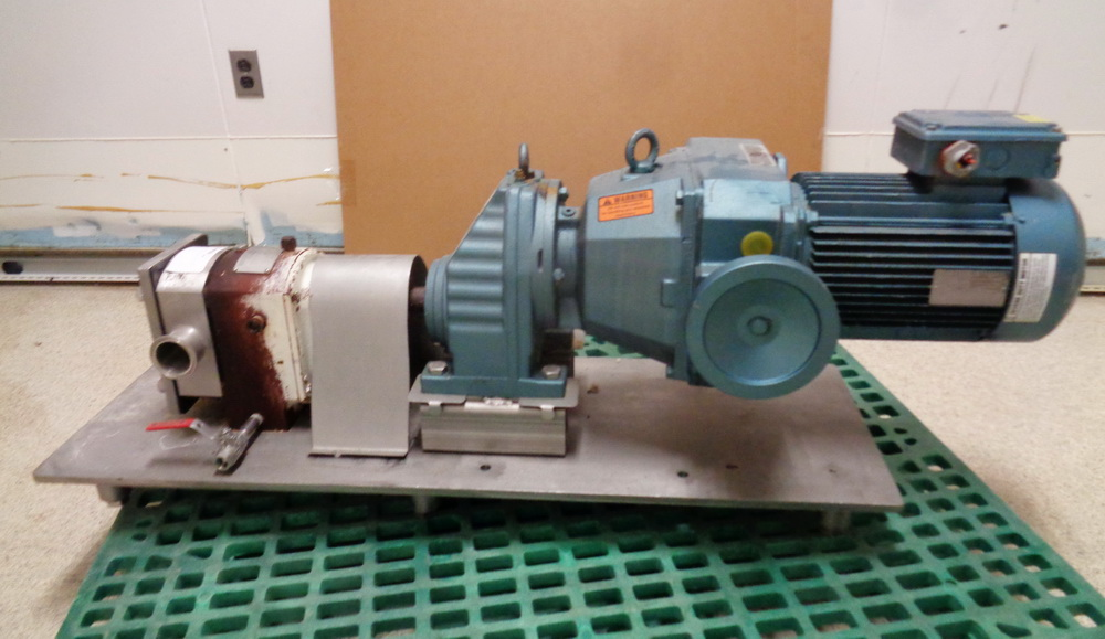 APV 7 1/2 HP Stainless Steel Positive Displacement Pump, Model R31S.