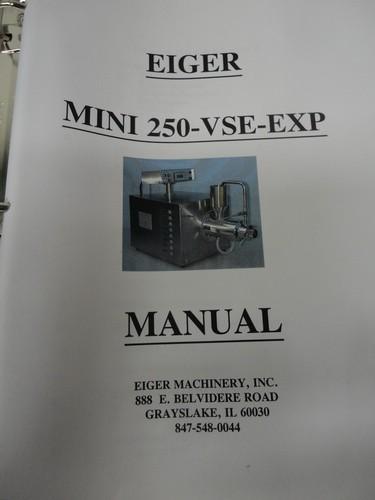 Eiger SS horizontal lab/pilot media mill, Model 250-VSE-EXP, S/N 10135 - Image 13 of 17