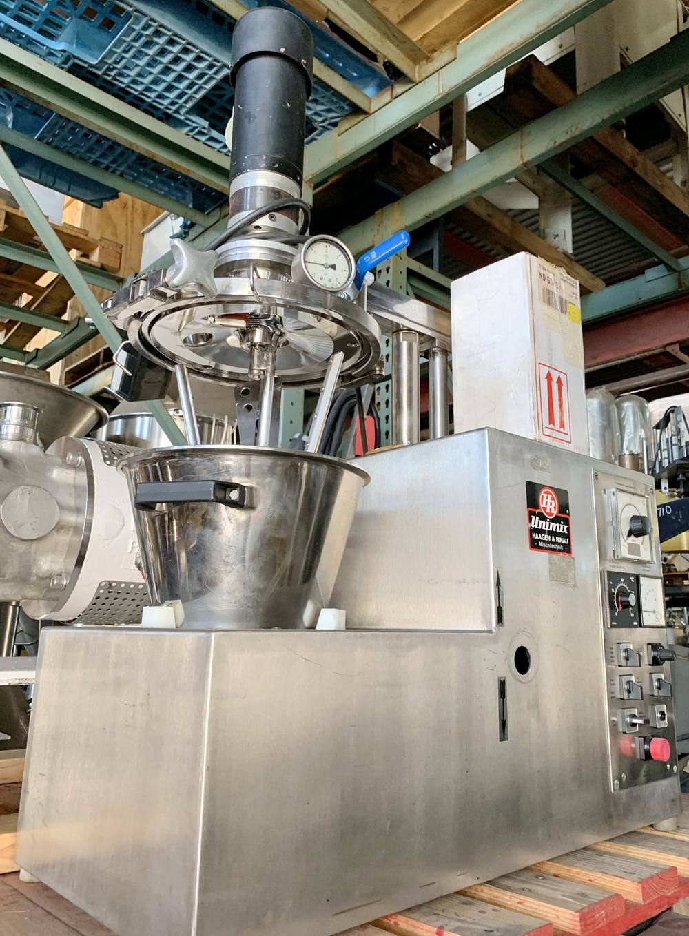 Haagen Rinau (Ekato) 1 gallon SS Vacuum/Jacketed Lab Process Mixer, Model Unimix, S/N 866-3276 - Image 7 of 10