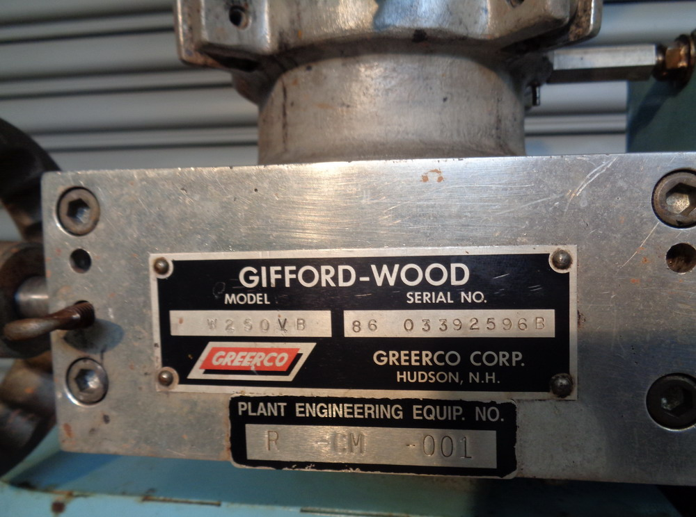 Greerco 2 HP XP SS Vertical Colloid Mill, Model W250VB, S/N 86-03392596B - Image 4 of 6