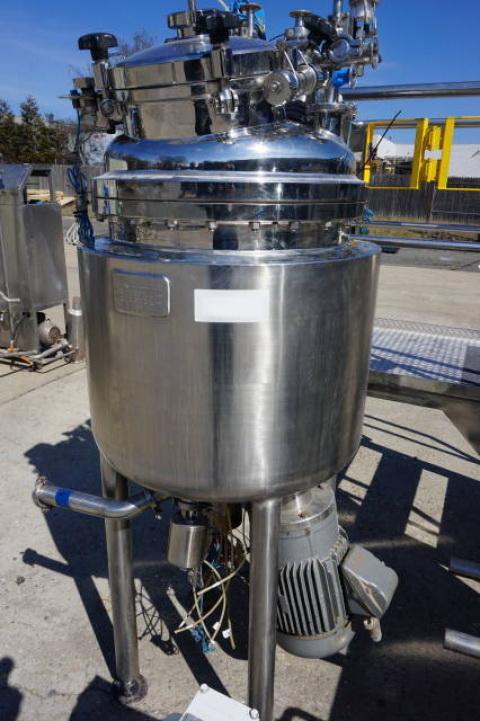 Krieger approx. 125 Liter Stainless Steel Jacketed Pressure Vessel, S/N 0503-9394 - Image 3 of 11