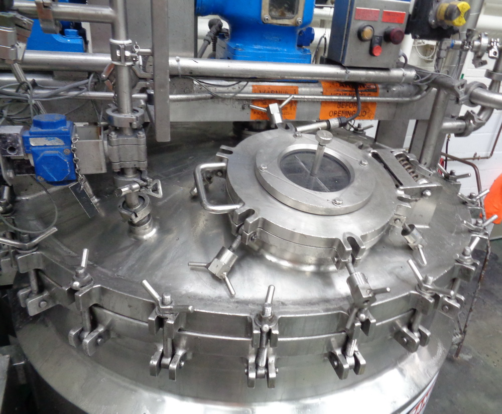 """Greerco/Gifford Wood 1,000 Liter (250 gal) 316 SS Jacketed Triple Motion """"Agi-Mix"""" Kettle/Reactor - Image 13 of 27"""