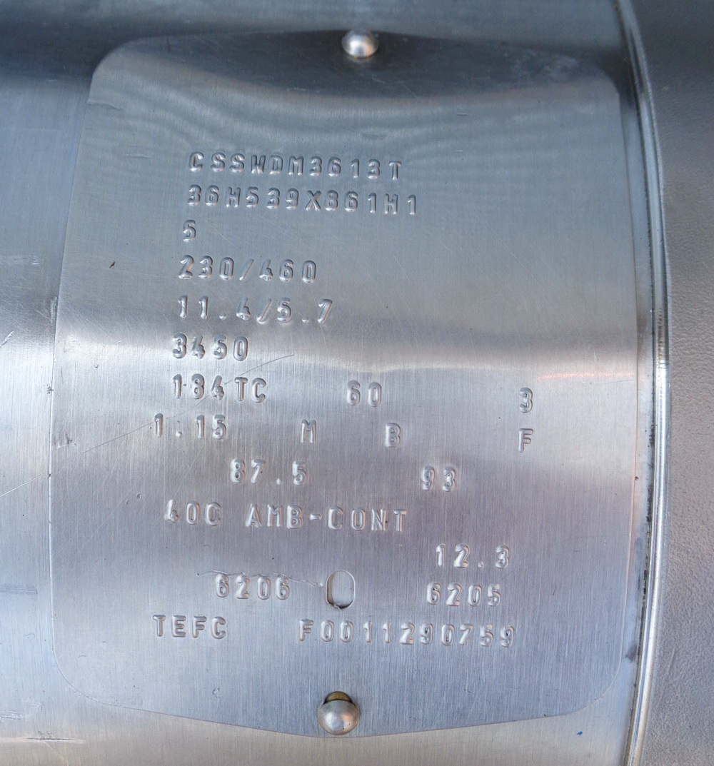 Ross 5HP SS High Speed Homomixer w/ shaft and rotor/stator, S/N 41958 - Image 2 of 8