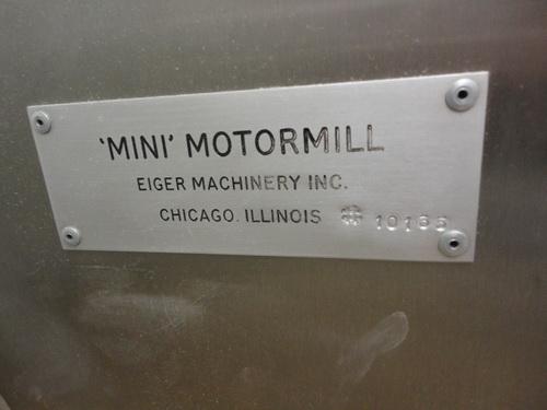 Eiger SS horizontal lab/pilot media mill, Model 250-VSE-EXP, S/N 10135 - Image 12 of 17