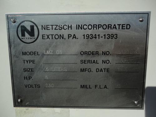 Netzsch Pilot Horizontal Media Mill, LMZ-05, S/N 204379 - Image 3 of 15