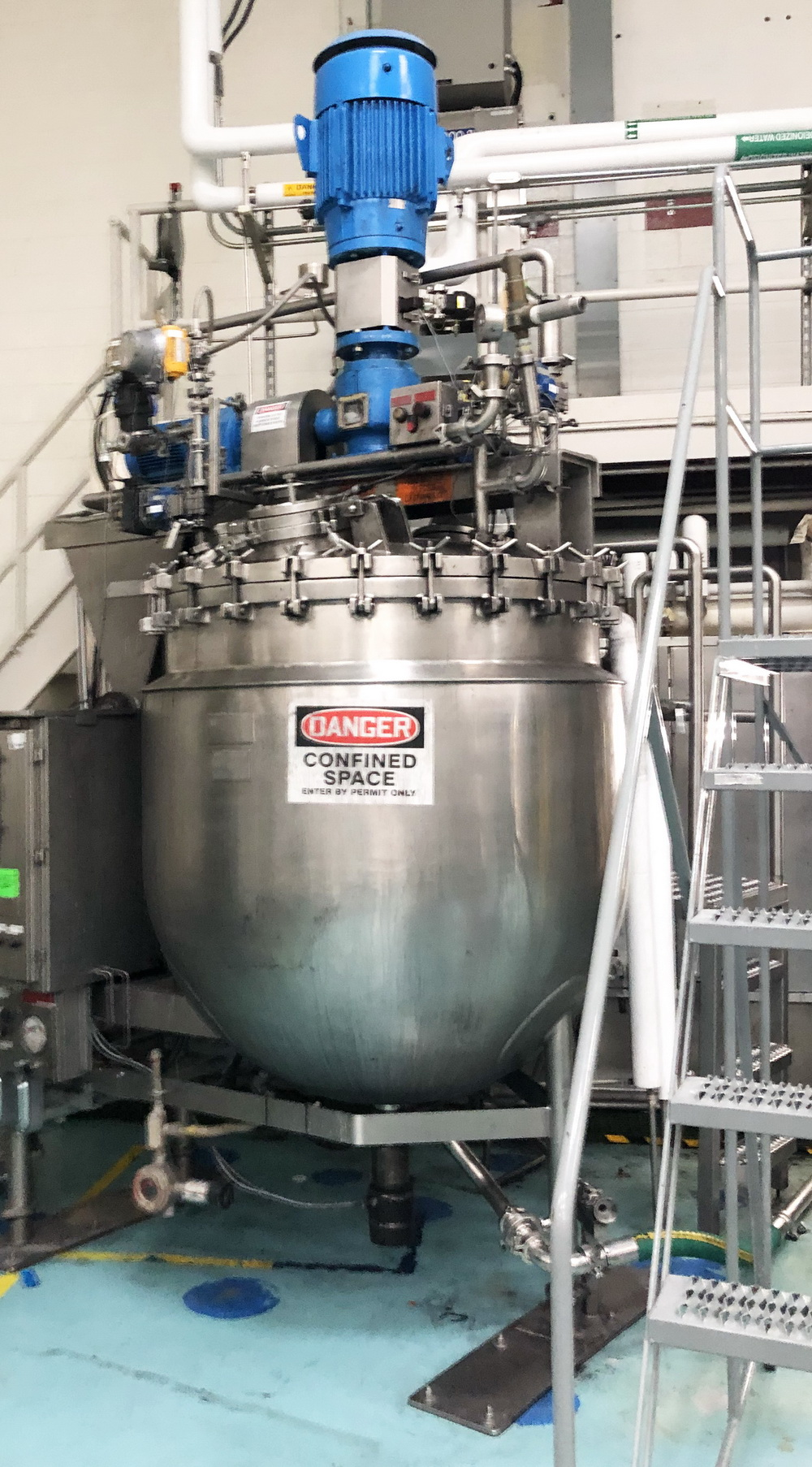 """Greerco/Gifford Wood 1,000 Liter (250 gal) 316 SS Jacketed Triple Motion """"Agi-Mix"""" Kettle/Reactor - Image 3 of 27"""