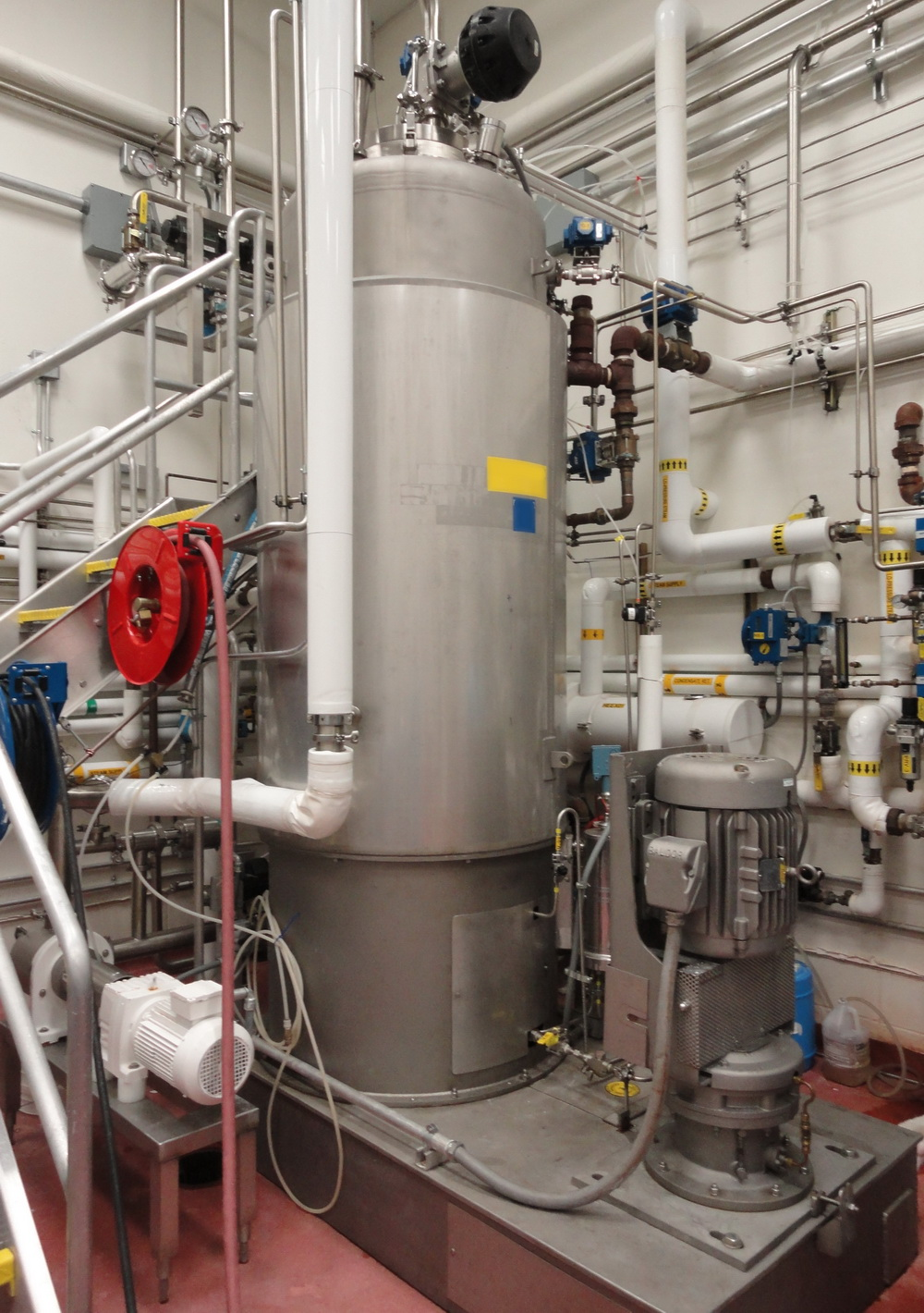 Vertical 1500 Liter/400 gallon SS Jacketed Vacuum Process Tank - Image 2 of 13