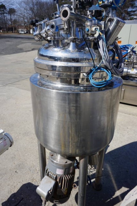 Krieger approx. 125 Liter Stainless Steel Jacketed Pressure Vessel, S/N 0503-9394 - Image 9 of 11