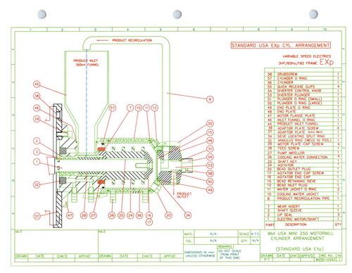 Eiger SS horizontal lab/pilot media mill, Model 250-VSE-EXP, S/N 10135 - Image 17 of 17