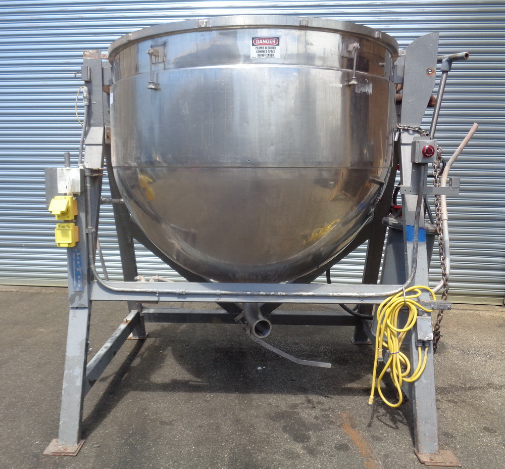 Lee 500 gallon Stainless Steel Double Motion Scraper Jacketed Kettle, Model 500DV9MT - Image 2 of 14