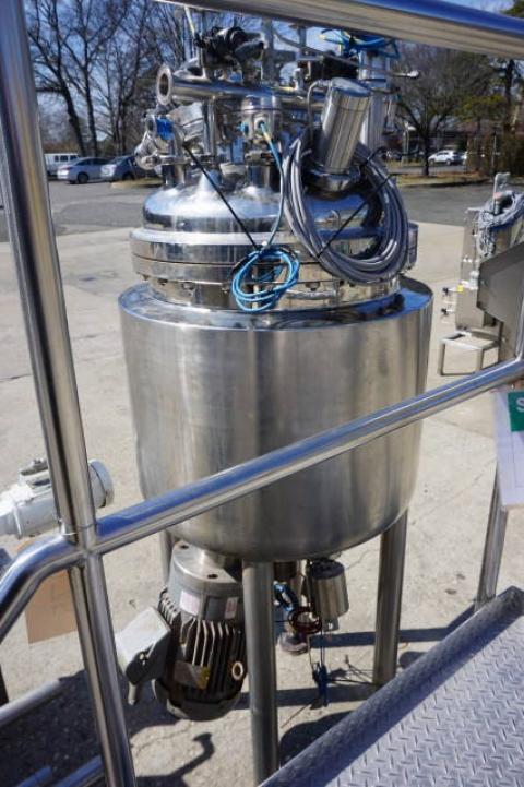 Krieger approx. 125 Liter Stainless Steel Jacketed Pressure Vessel, S/N 0503-9394 - Image 5 of 11