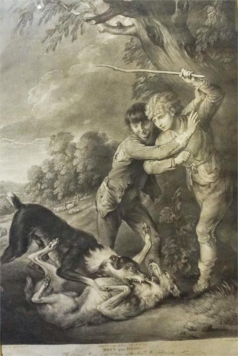 Lot 372 - Print of boys and dogs after Gainsborough