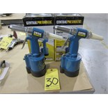 """LOT OF HYDRAULIC AIR RIVETERS (2), CENTRAL PNEUMATIC 1/4""""  (new)"""