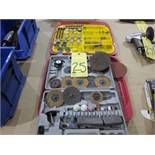 LOT CONSISTING OF GRINDING STONES & PADS  (in two boxes)