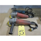 LOT OF ANGLE GRINDERS: MILWAUKEE (2) & BOSCH