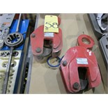 LOT OF PLATE CLAMPS (2), NEW LINE 2 T. CAP.