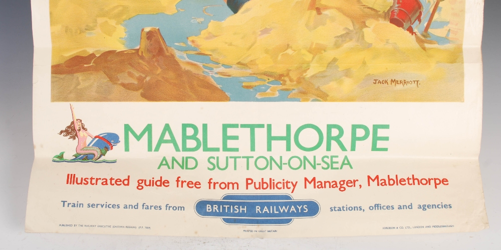 Lot 211 - Mablethorpe and Sutton-on-Sea, a British Railways advertising poster after Jack Merriott, Jordison &