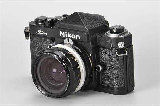 A Nikon F2 Titan SLR Camera, black, serial no  793552, with Nikkor-H