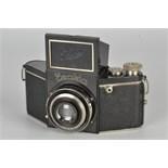 An Ihagee Exakta A Type 1 Camera, black, serial no. 405471, with Carl Zeiss Jena Tessar f/3.5 70mm