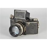 An Ihagee Night Exakta Model B Type 4.1 Camera, black, serial no. 458147, with Meyer Görlitz